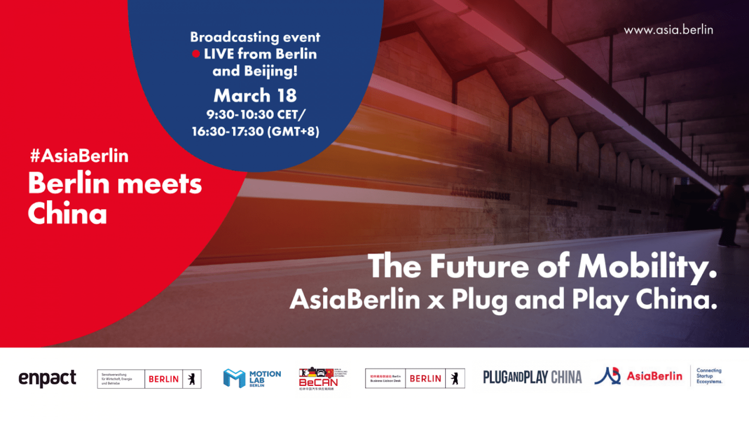 """Join us for AsiaBerlin Event: Berlin meets China """"The Future of Mobility"""" on 18 March"""