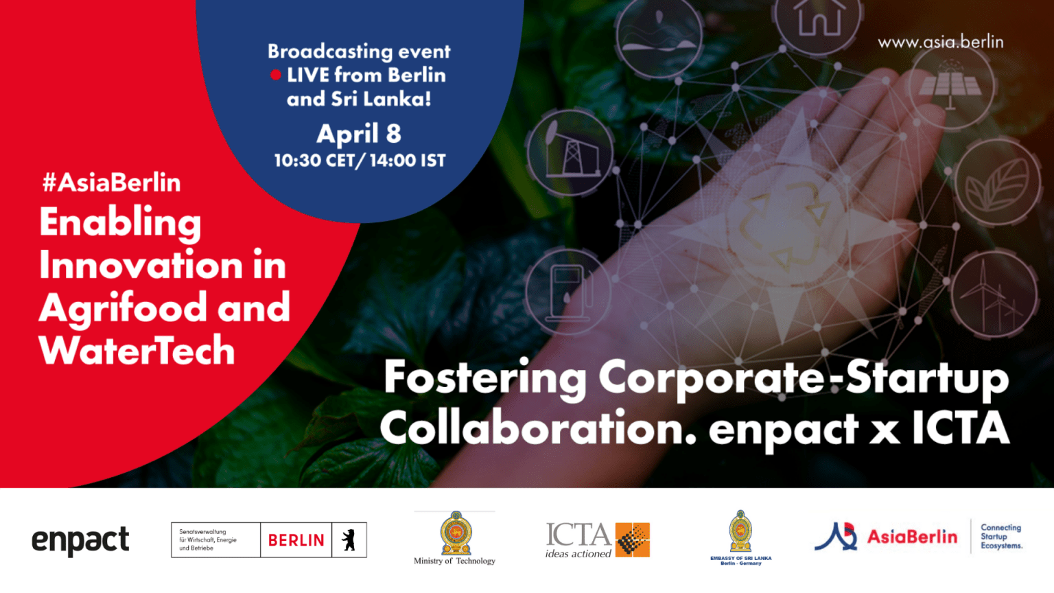 Join us for our next AsiaBerlin Event: International Innovation and Collaboration in Agrifood and WaterTech on 8 April