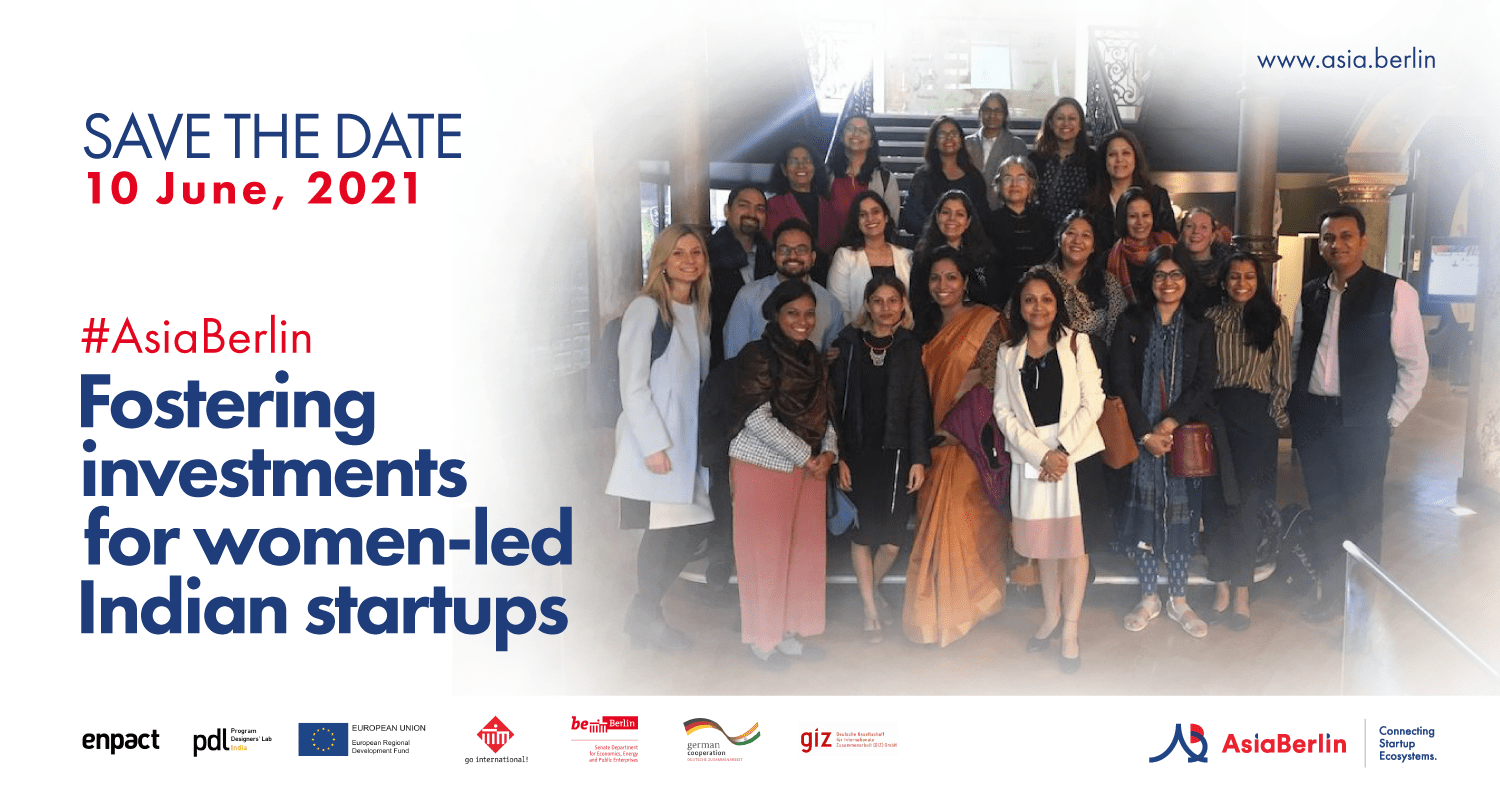 AsiaBerlin Event: Fostering investments for women-led Indian startups on 10 June 2021